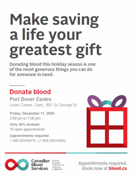 Canadian Blood Services returning to Port Dover 1
